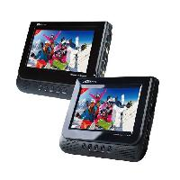 Lecteur - Enregistreur Video TAKARA VRT177 Lecteur DVD Portable - Double Écran - Port USB - Noir