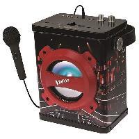 Lecteur Cd - Radio - Boombox LEXIBOOK - Enceinte Bluetooth Karaoke avec Micro The Voice