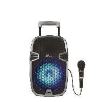 Lecteur Cd - Radio - Boombox LEXIBOOK - Karaoke Lumineux Bluetooth Transportable