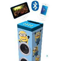 Lecteur Cd - Radio - Boombox LEXIBOOK - LES MINIONS - Tour de Son Enfant Bluetooth 14 W