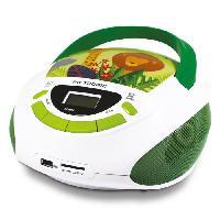 Lecteur Cd - Radio - Boombox METRONIC 477144 Radio CD enfant style Jungle - vert et blanc