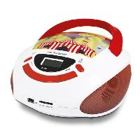 Lecteur Cd - Radio - Boombox METRONIC 477145 Radio CD enfant style Circus - rouge et blanc