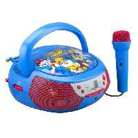 Lecteur Cd - Radio - Boombox PAT PATROUILLE Lecteur CD Boombox avec un microphone enfant - Ekids