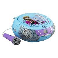 Lecteur Cd - Radio - Boombox REINE DES NEIGES CD Boombox Lecteur CD avec un microphone - Ekids