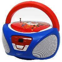 Lecteur Cd - Radio - Boombox SUPER HERO GIRLS Boombox CR1-02393 - Radio-réveil et lecteur CD - Bleu et rouge - Techtraining