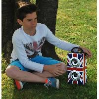 Lecteur Cd - Radio - Boombox TEKNOFUN Mini Tour Enceinte enfant Bluetooth UK Grunge