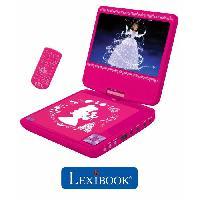 Lecteur Dvd Enfant LEXIBOOK - DISNEY PRINCESSES - Lecteur DVD portable pour Enfant avec port USB