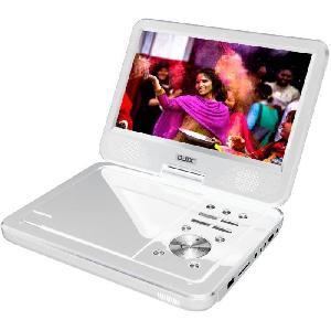 Lecteur Dvd Portable D-JIX PVS1006-20 Blanc Lecteur DVD portable 10 rotatif - Blanc Djix