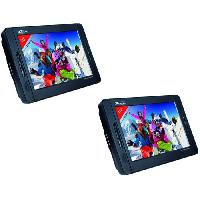 Lecteur Dvd Portable TAKARA VRT210 - 2 Lecteurs DVD Portable - Ecran 10 -25.2 cm- - Port USB et Lecteur de carte memoire