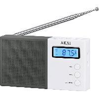 Lecteur Musique AKAI AR-76W Radio pocket Digital - Noir et Blanc