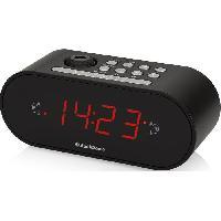 Lecteur Musique AUDIOSONIC CL-1496 Radio Réveil Projecteur - Réglage de la luminosité - Noir