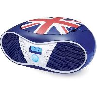 Lecteur Musique BIGBEN CD58GB Radio CD/USB/MP3 portable - United kingdom - Bleu