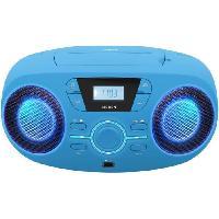 Lecteur Musique BIGBEN CD61BLUSB Lecteur Radio Cd Portable Usb Bleu + Speakers Lumineux