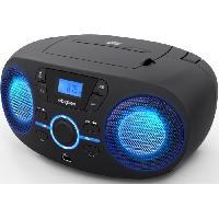 Lecteur Musique BIGBEN CD61NUSB - Lecteur CD/USB portable avec effets lumineux - Radio FM - Afficheur LCD - Prise casque