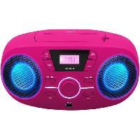 Lecteur Musique BIGBEN CD61RSUSB Lecteur Radio Cd Portable Usb Rose + Speakers Lumineux
