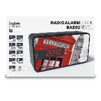 Lecteur Musique BIGBEN RR15TB2 Radio Réveil - Décor téléphone box 2