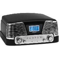 Lecteur Musique BIG BEN TD016NM Tourne Disque 3 vitesses - 33-45-78 tours - Arret automatique du bras - Affichage LCD - Radio FM - Noir metallise