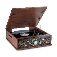 Lecteur Musique BIGBEN TD103 Tourne Disques 33 / 45 Tours - Radio AM/FM - Port USB - Encodeur (permet d'enregistrer directement vos vinyles sur USB)