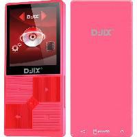 Lecteur Musique D-JIXM320BT 4GO Lecteur MP4 Bluetooth mémoire interne 4 Go - Rose - Djix