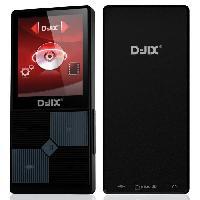 Lecteur Musique D-JIX M320BT Lecteur multimédia MP4 - 4 Go - Bluetooth - Podometre - Noir - Djix
