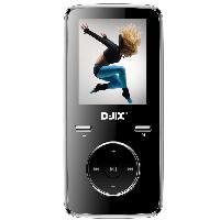 Lecteur Musique D-JIX M350 8GO - Lecteur MP3 8Go - Ecran LCD - Lecteur photos. videos et eBook - Noir - Djix