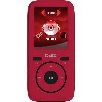 Lecteur Musique D-JIXM440 8GO Lecteur MP4 avec mémoire interne 8 Go - Rouge Djix