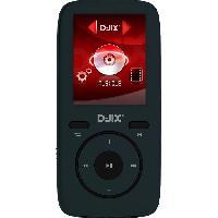 Lecteur Musique D-jix M439 Lecteur MP4 - 16GO - Format Audio : MP3. WMA. FLAC - Dictaphone - 8h d'autonomie - Noir