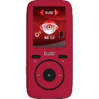 Lecteur Musique D-jix M440 Lecteur MP4 - 4GO - Format Audio : MP3. WMA. FLAC - Dictaphone - 8h d'autonomie - Carte micro SD jusqu'a 16Go - Rouge