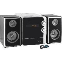 Lecteur Musique INOVALLEY CH17BTH Chaine Hifi avec lecteur CD - Bluetooth 5.0 - 2x25W - Radio FM - Port USB 2.0 - Affichage LED - Noir et blanche
