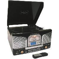Lecteur Musique INOVALLEY Chaîne Hi-Fi Platine Vinyle - Bluetooth - TD / CD / FM
