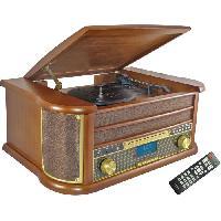 Lecteur Musique INOVALLEY RETRO29-E Chaine Hifi vinyle style retro Bluetooth - Lecteur CD - K7 Audio - FM - USB