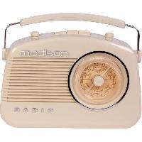 Lecteur Musique MADISON MAD-VR60 - Radio rétro - Bluetooth. Radio FM. Entrée MP3 - Réglage de tonalité