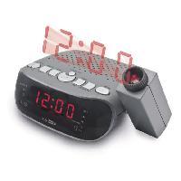 Lecteur Musique Radio-reveil FM projecteur Ecran LCD reglable - Caliber