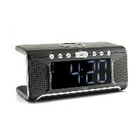 Lecteur Musique Radio-reveil avec syntoniseur FM AUX et bloc de chargement sans fil QI