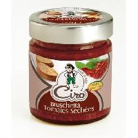 Legumes En Saumure -vinaigres - Pickles CIRO Bruschetta Tomates séchées sans gluten - 180 g
