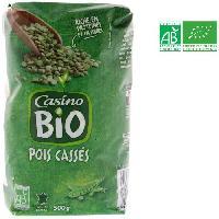 Legumes Secs - Legumineuses - Haricot - Feve - Pois - Lentilles Pois casses verts bio - 500 g