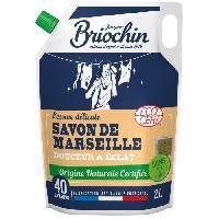 Lessive BRIOCHIN Recharge lessive délicate au savon de Marseille - 2 L - 40 lavages - Douceur et éclat