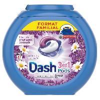 Lessive Dash3 En 1 Lessive liquide Lavande et Camomille - 47lavages Dash 2 En 1