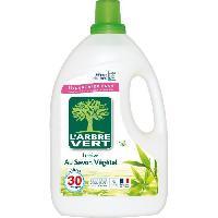 Lessive L'Arbre Vert Lessive Liquide pour Peau Sensible/Famille Hypoallergénique 30 Lavages 2 L