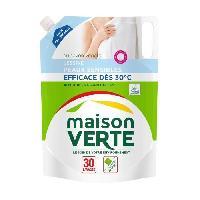 Lessive MAISON VERTE Lessive peaux sensibles recharge 30 lavages - 1.8 l