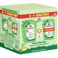 Lessive Rainett Lessive recharge Aloe Vera 1.98 l - 2 + 1 gratuit