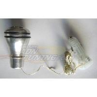 Leviers de vitesses Pommeau de levier de vitesse a LED blanc - NA72 - 12V - 666-CaL ADNAuto