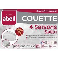 Linge De Lit ABEIL Couette 4 SAISONS Satin de Coton 240x260cm Aucune