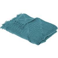 Linge De Lit Jeté de lit Tuft Inca - 130 x 180 cm - Bleu canard