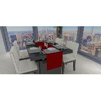 Linge De Table - Cuisine Chemin de table - Galaxy - 40x180 cm - Rouge