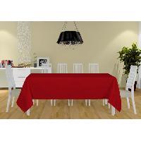 Linge De Table - Cuisine Nappe Alix - 160x270 cm - Rouge