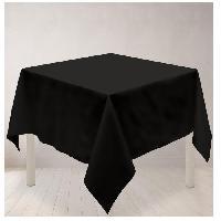 Linge De Table - Cuisine Nappe carree anti-taches ALIX 180x180cm Noir