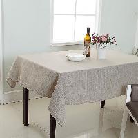 Linge De Table - Cuisine Nappe de table decorative rectangulaire uni effet tisse - 140x240cm - 100 polyester - Aucune