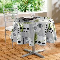 Linge De Table - Cuisine Nappe toile ciree Decor line Photoprint jarden zen 160 cm rouge