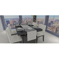 Linge De Table - Cuisine SOLEIL D'OCRE Chemin de table - Galaxy - 40x180 cm - Blanc
